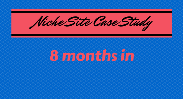 niche site case study 8 months in